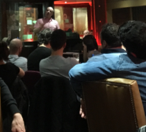 Speaking at curry quiz night in Harrogate